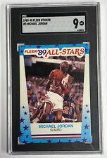1989-90 Fleer Sticker #3 Michael Jordan SGC MT 9