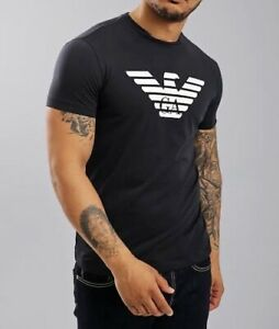 EMPORIO ARMANI GA CHEST EAGLE LOGO CREW NECK T-SHIRT