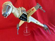 Vintage Star Wars Rebel B-Wing Fighter *COMPLETE & WORKS* 1984 Kenner bwing