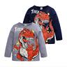 Kids Long Sleeve T-Shirt Cartoon Dinosaur Pattern Shirt Top tee Kids Clothing