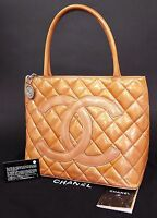 Auth CHANEL Pink (Orange) Quilted Patent Leather CC Medallion Tote Bag #23382