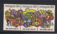 Malaysia  1971  Sc # 86  Strip of 3   MNH   (49696)