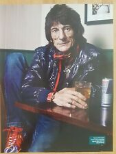 RONNIE WOOD magazine picture print poster cutting app 22x28cm ROLLING STONES