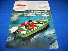 """1971 SEARS """"GAMEFISHER"""" FISHING BOAT ..1-PAGE ORIGINAL SALES AD (636Z)"""