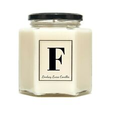 Letter F Alphabet Scented Candle