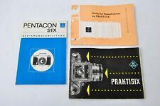 Pentacon Six Praktisix  Anleitung  Gebrauchsanleitung Zubehör DDR