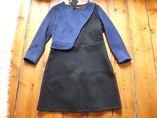 BNWT THE KOOPLES ROYAL BLUE/BLACK DRESS, 42, 12-14