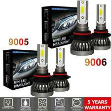 4Pcs 9005 9006 Led Combo Headlight Bulbs High Low Beam Kit 240W Cree 6000K White (Fits: Chrysler Concorde)