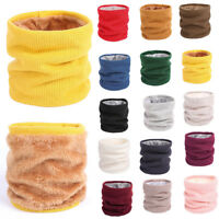Ladies Women Men Winter Cotton Knitted Snood Tube Scarf Shawl Neck Warmer Gift