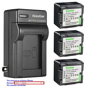 Kastar Battery Wall Charger for Panasonic CGA-DU14 Genuine VSK0631 OEM VSK0651