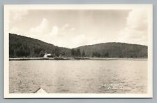 Lac Tire RPPC St. Donat Quebec—Rare Antique Photo CPA Charpentier 1930s