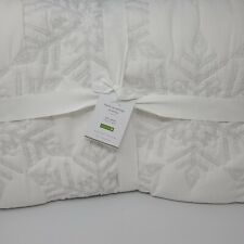 Pottery Barn Karly Snowflake Full Queen Quilt *Sample*