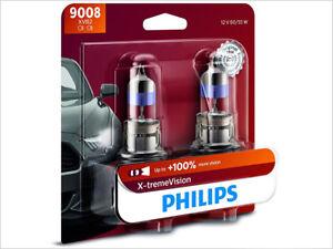 2x NEW PHILIPS XTREME VISION 100% H13 9008XVB2 HEADLIGHT DRIVING LIGHT BULBS
