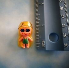 Vintage 1967 mini jewelry Liddle Kiddle doll w/yellow hair green swimsuit