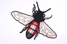 Gucci Style Bee Sew On Patch (1 Pcs) Large Bee T-shirt DIY Embroidered Applique