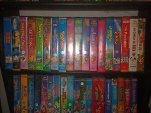 Lotto 45 Videocassette VHS Walt Disney - Collezione Vintage