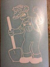 "The Simpsons Rare Rub-on Sticker 5""x7.5"""