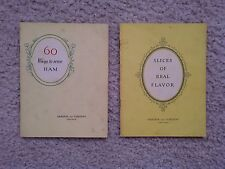LOT OF 2 - ARMOUR AND COMPANY VINTAGE BOOKLETS - 60 WAYS TO SERVE HAM / BACON