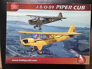 Hobby Craft 1/48 J-3/0-59 Piper Cub Model Kit -#HC1455- Civilian/Military Decals