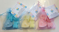Baby Shower Soap & Candle Favours -  Blue Pink Yellow - Girl Boy Unisex  Neutral
