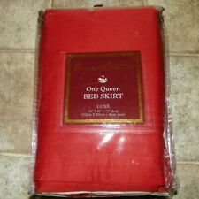 New Raymond Waites Queen Bed skirt Dust Ruffle in Luxe Paprika
