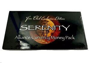 serenity alliance Currency Money Pack Sealed Universal Studios QMI movie promo