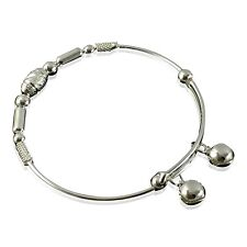 Handmade Bracciale in argento solido tono con galleggiante CAMPANE Fashion Design Tendenza Asiatico