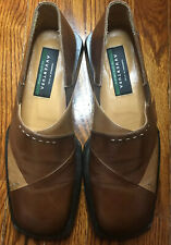 Avventura Brown Leather Men's Loafer Shoe Slip On Size 9M Handcrafted in Spain