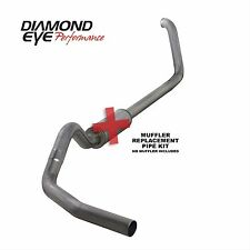 "Diamond Eye 4"" Stainless Turbo Back Single Exhaust Kit No Muffler K4318S-RP"
