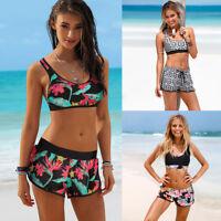 Womens Girls Lady Swimming Costume Padded Swimsuit Monokini Swimwear Bikini Set