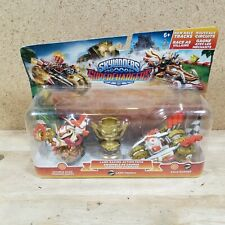 SKYLANDERS SUPERCHARGERS LAND RACING ACTION PACK NEW Trophy Trigger Happy Rusher