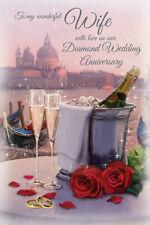 Wife 60th Diamond Wedding Anniversary Card