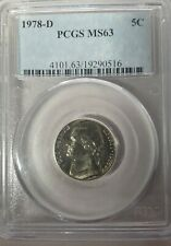1978-D 5C Jefferson Nickel-PCGS MS63
