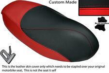 RED & BLACK CUSTOM FITS PEUGEOT TREKKER 50 100 DUAL SEAT COVER