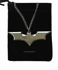 BATMAN DC COMICS MARVEL SUPEREROE cavaliere oscuro Bat CATENA CIONDOLO COLLANA ARGENTO