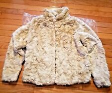 $120 NWT Abercrombie & Fitch Faux Fur Jacket Cream Large L