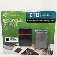 Seagate Backup Plus Portable+ 2TB USB 3.0 External HDD Case Windows Mac Sealed!!