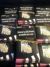 100 x NEW GiffGaff SIM Cards - Retail Packaged - £5 Extra Credit Ready
