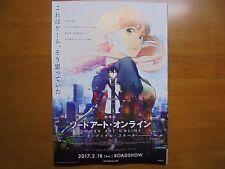 SWORD ART ONLINE MOVIE FLYER Mini Poster Chirashi ver.2 Japan 28-12-1