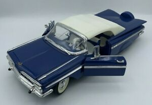 1959 Chevy Impala Roadster 1/18 Scale Blue Road Tough Road Legends 92118/9