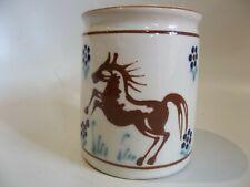 SKAL DANISH POTTERY COFFEE / TEA MUG. EQUESTRIAN HORSE