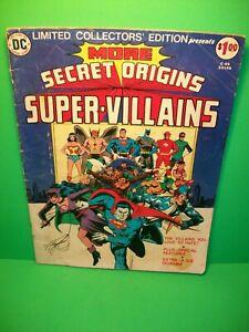 1976 Secret Origins Super-Villains ~ DC Limited Edition C-45 (Large Size) FN