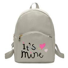 Women Shoulder Backpack Leather Rucksack Preppy Schoolbag Travel Handbag Satchel
