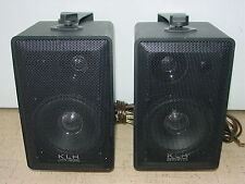 KLH Model 970A Linear Dynamics In & Outdoor Speaker 40W 6-Ohm Pair with Holder