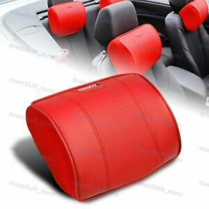 Red PU Leather Car Seat Memory Foam Neck Rest Cushion Pillow For Nissan Nismo X1