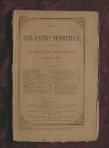 ATLANTIC Monthly magazine June 1871 Wilson Flagg Lacy Larcom Hiram Rich