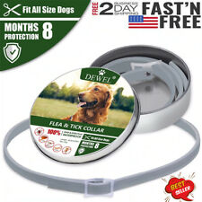 Dewel Cheaper than Seresto!Flea and Tick Collar for Large Dog USPS FAST SHIPPING