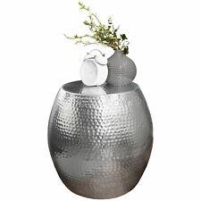 Beistelltisch Ø 42 cm Aluminium Dekotisch Ablagetisch Metall modern silber