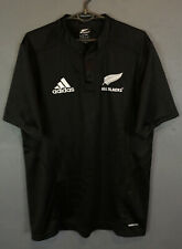 ADIDAS HOME MEN RUGBY UNION ALL BLACKS 2009/2010 NEW ZEALAND SHIRT JERSEY SIZE M