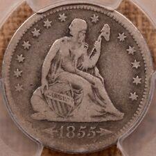 1855-O Arrows Seated quarter, PCGS VG10, choice for grade     DavidKahnRareCoins